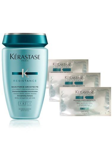Kerastase Kerastase Baın Force Archıtecte Cıment [1-2] Şampuan 250Ml+3 Adet Force Archıtecte Cıment [1-2] Maske 15ml Renksiz
